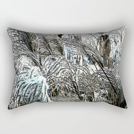 Reed - Blue and White Rectangular Pillow