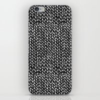 Hand Knit Black iPhone Skin