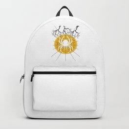 Hallows Eve Spooky Ghost Scary November Gift Halloween Spider Backpack