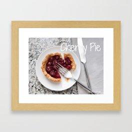 FOOD:  Cherry Pie Framed Art Print
