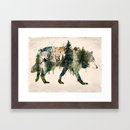 Wolf is the Pride of Nature Framed Art Print