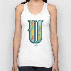 U is for Unique Unisex Tank Top