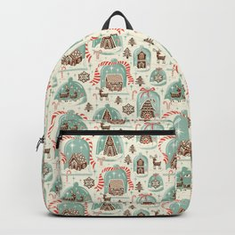 Gingerbread Village Cream Backpack