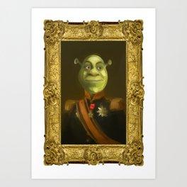 Shrek Portrait Art Print