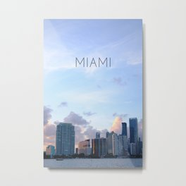 Miam Skyline Metal Print