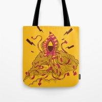 kraken Tote Bags featuring Kraken! by Popnyville