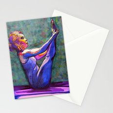 Stained Glass Boat Pose Stationery Cards