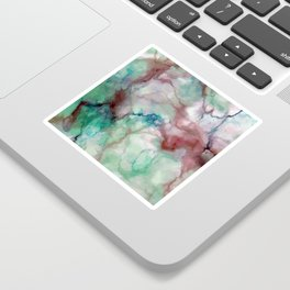 Colorful watercolor marble Sticker