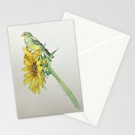 Bird on Sunflower Stationery Cards