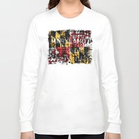 maryland Long Sleeve T-shirts featuring Maryland Flag Print by david zobel