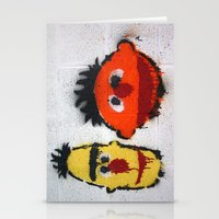 sesame street Stationery Cards featuring Bert and Ernie, Sesame Street, Graffiti by 8daysOfTreasures