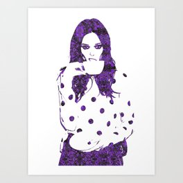Tea Cup: Coco Rocha Art Print
