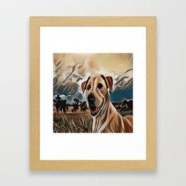 The Rhodesian Ridgeback Framed Art Print