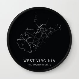 West Virginia State Road Map Wall Clock