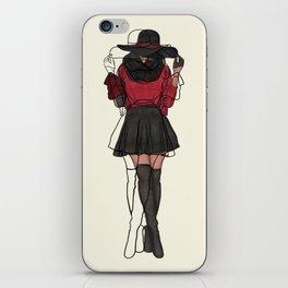 The Fashionista Artsy Fashion Illustration iPhone Skin