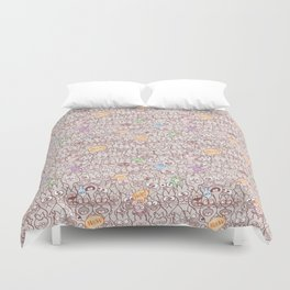 Seamless pattern world crowded with funny cats Duvet Cover