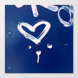 White Heart Canvas Print