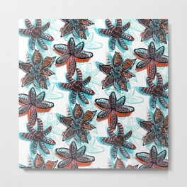 Tropica Floral Metal Print