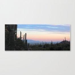 Watercolor Sunset, Ventana Canyon 02, Arizona Canvas Print