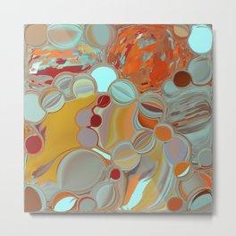 Liquid Bubbles Metal Print