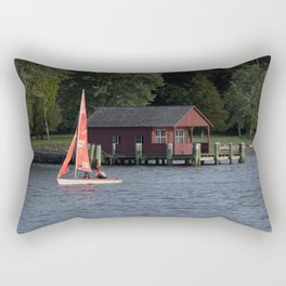 Boating on the Connecticut River Rectangular Pillow