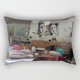 Window Shopping in La Clusaz Rectangular Pillow