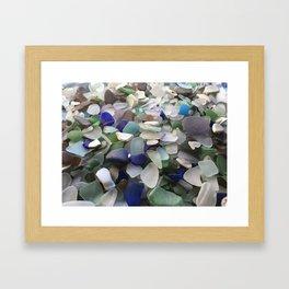 Sea Glass Assortment 5 Framed Art Print