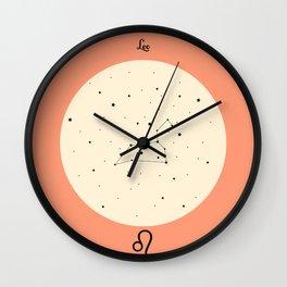 Leo - Pink Wall Clock