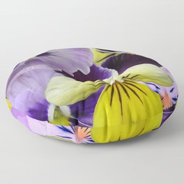 Pansy Patch Floor Pillow