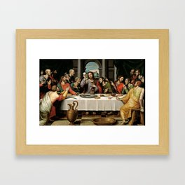 Last Supper Painting Reproduction Framed Art Print