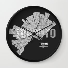 Toronto Map Wall Clock
