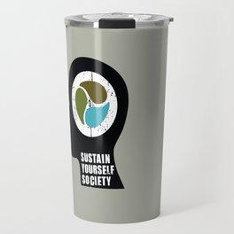 sustain yourself society Travel Mug