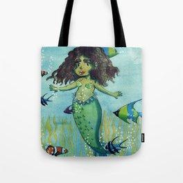 Chibi mermaid (censored) Tote Bag