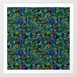 Futurist Abstract Art Print