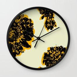 Gold Gerber daisy  Wall Clock