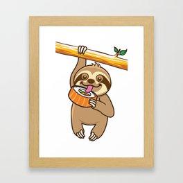 Sloth Sushi Framed Art Print