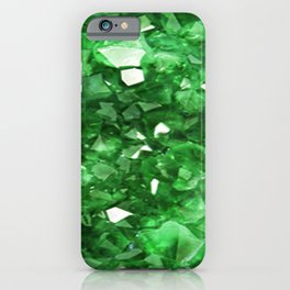 EMERALD GREEN CRYSTALS  MAY BIRTHSTONE iPhone Case