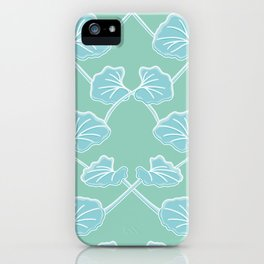 Silver Falls Leaves Pattern iPhone Case