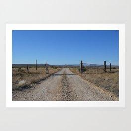 West Texas Horizon Art Print