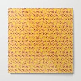 motif jaune 4 Metal Print