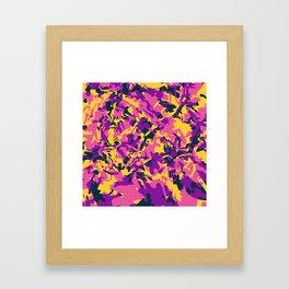 Crazy Camo Framed Art Print