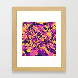 Crazy Camo Framed Art Print