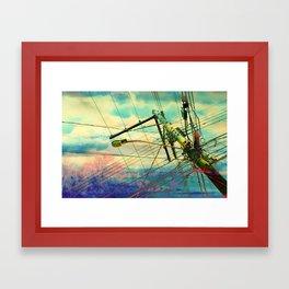 Sky Lines Framed Art Print
