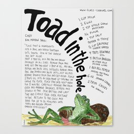 Toad In The Hole Canvas Print