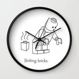 LEGO Shitting Bricks Wall Clock