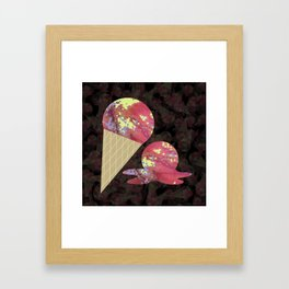 Three Second Rule; Save the Ice Cream Framed Art Print