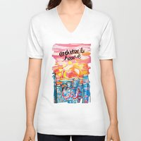 architect V-neck T-shirts featuring Architect Heart by Anwar B