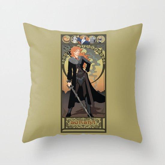 Sorsha Nouveau - Willow Throw Pillow