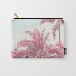 Dream Vacation - Pink Palm Trees  Carry-All Pouch