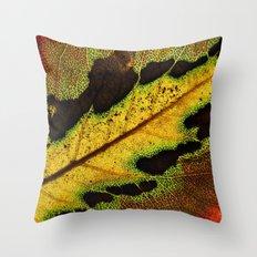 Leaf Veins III Throw Pillow